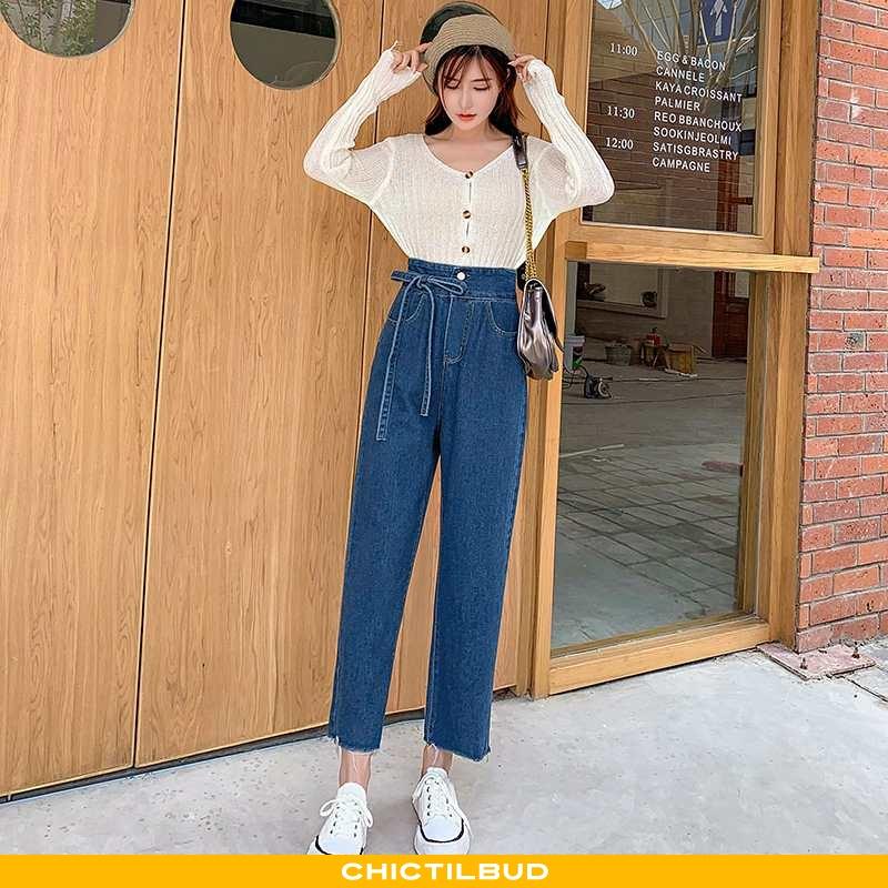 Jeans Dame Cowboybukser Højtaljet Ny