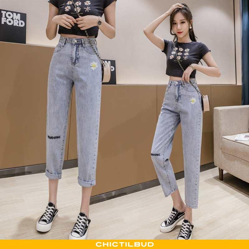Jeans Dame Cowboybukser Højtaljet Tusindfryd