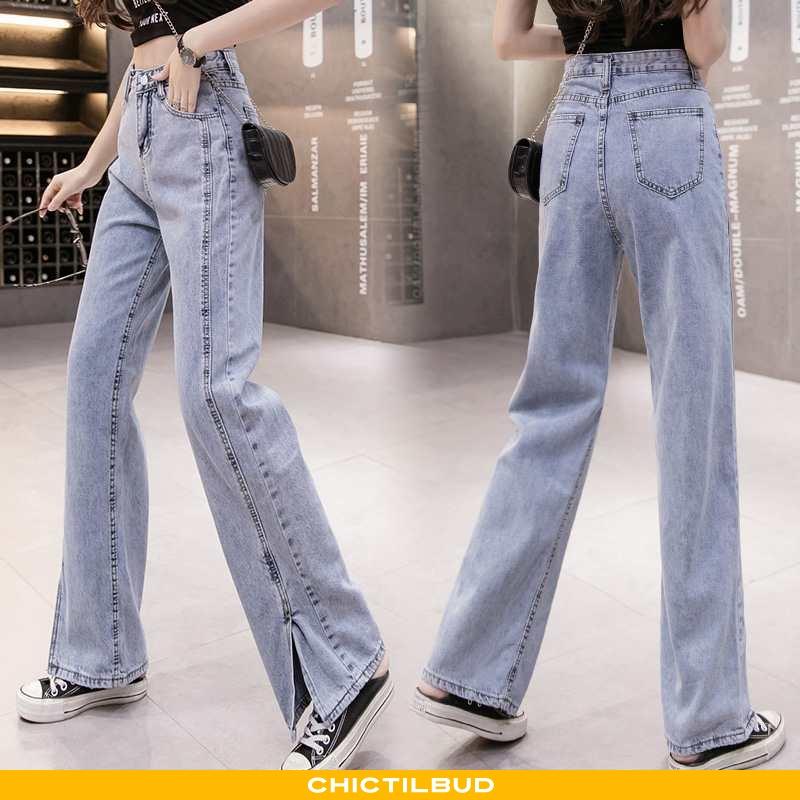 Jeans Dame Cowboybukser Løse Kvinder