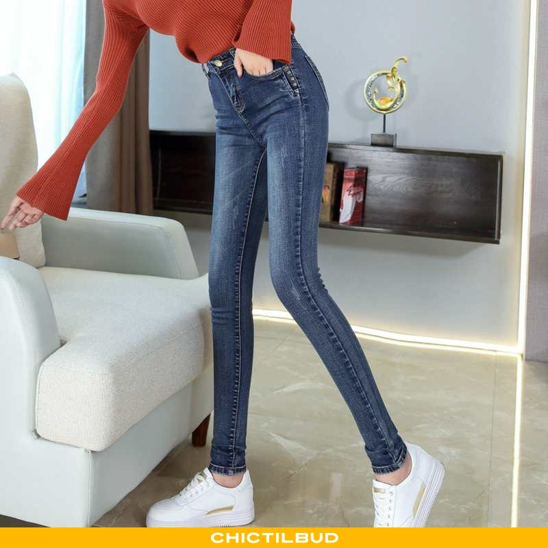 Jeans Dame Cowboybukser Pencil Kvinder