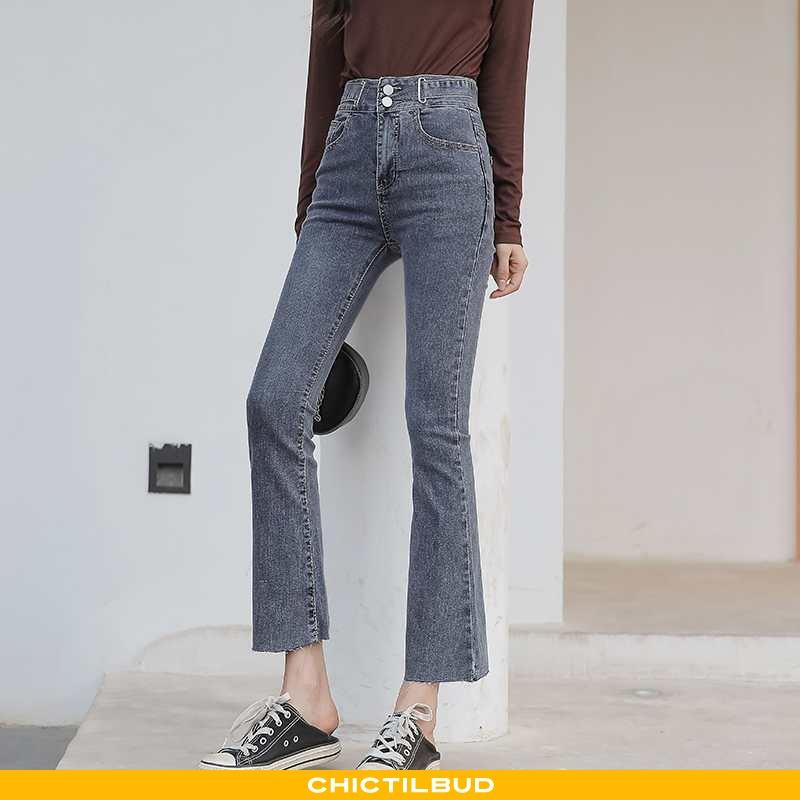 Jeans Dame Cowboybukser Slim Fit Ny