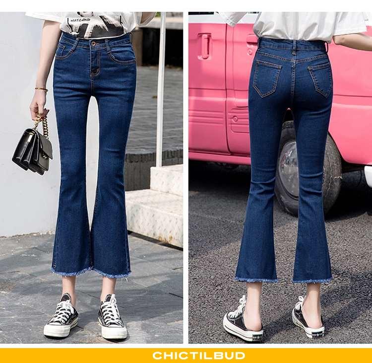 Jeans Dame Cowboybukser Straight Ny