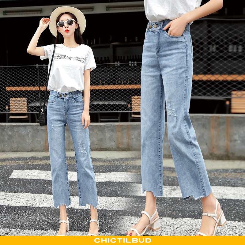 Jeans Dame Cowboybukser Trend Blå