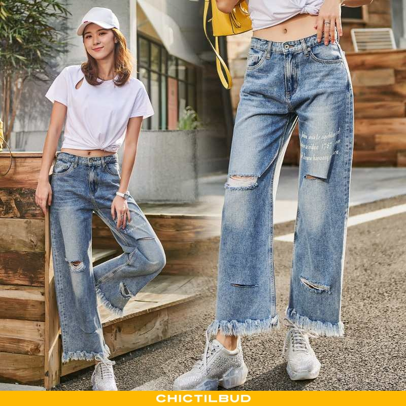 Jeans Dame Cowboybukser Tryk 2020