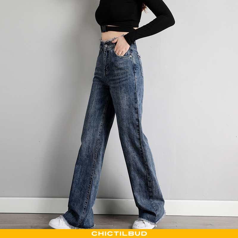 Jeans Dame Løse Ny Mørkeblå