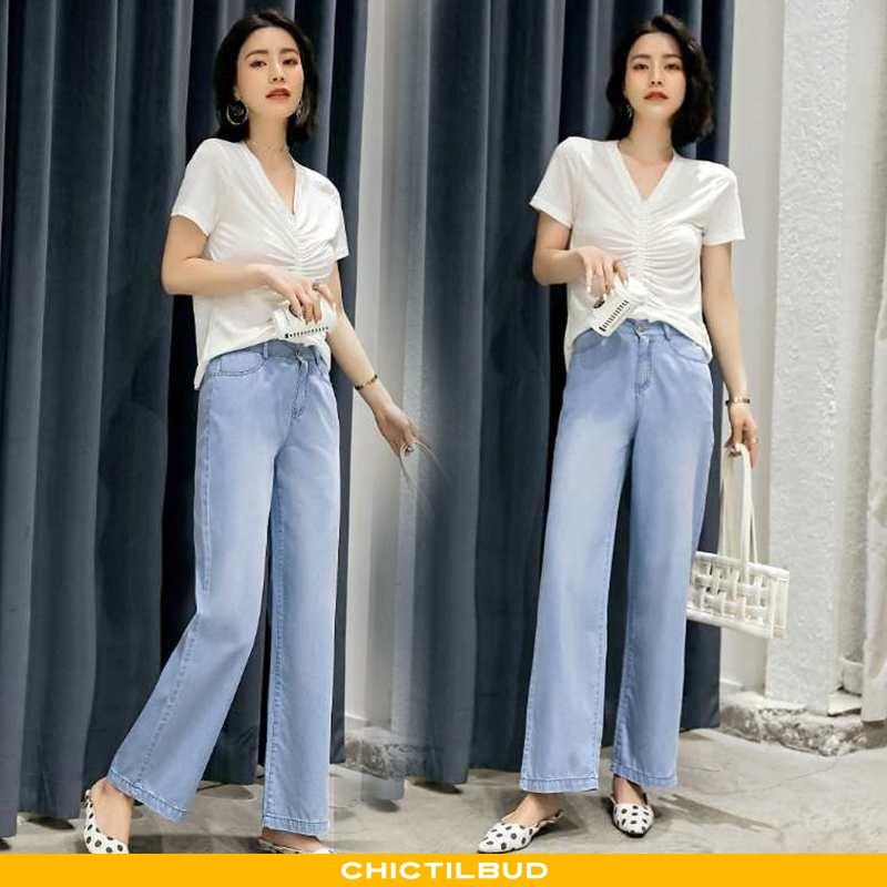 Jeans Dame Mode Lyseblå Blå