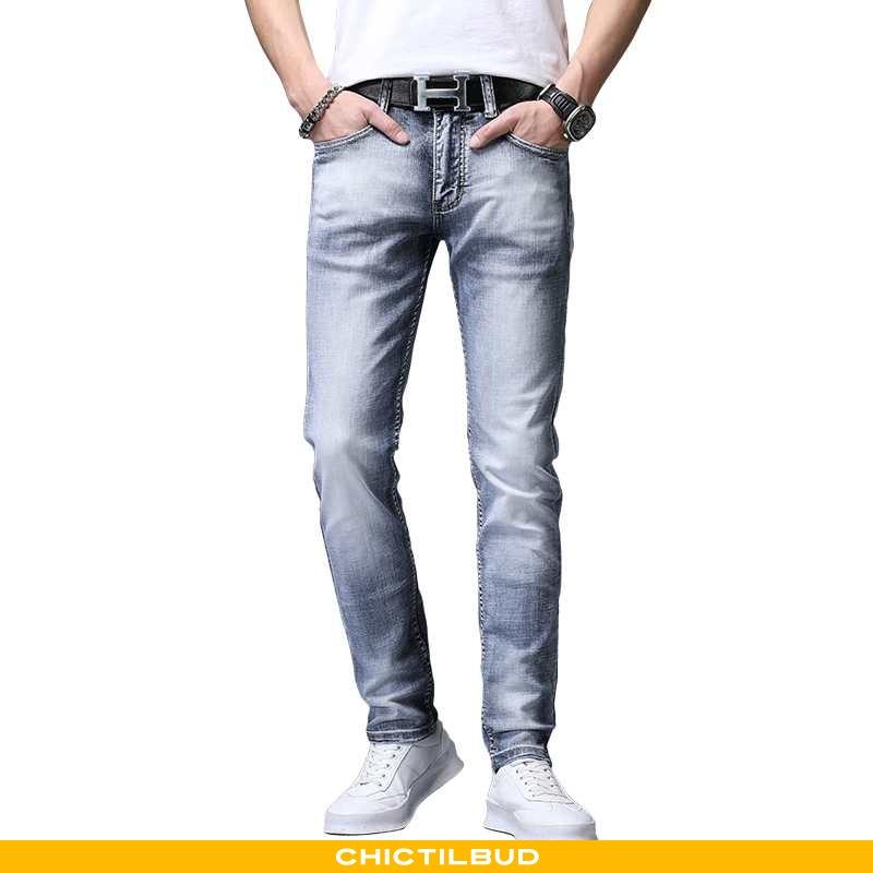 Jeans Herre Cowboybukser Bomuld Straight Ren