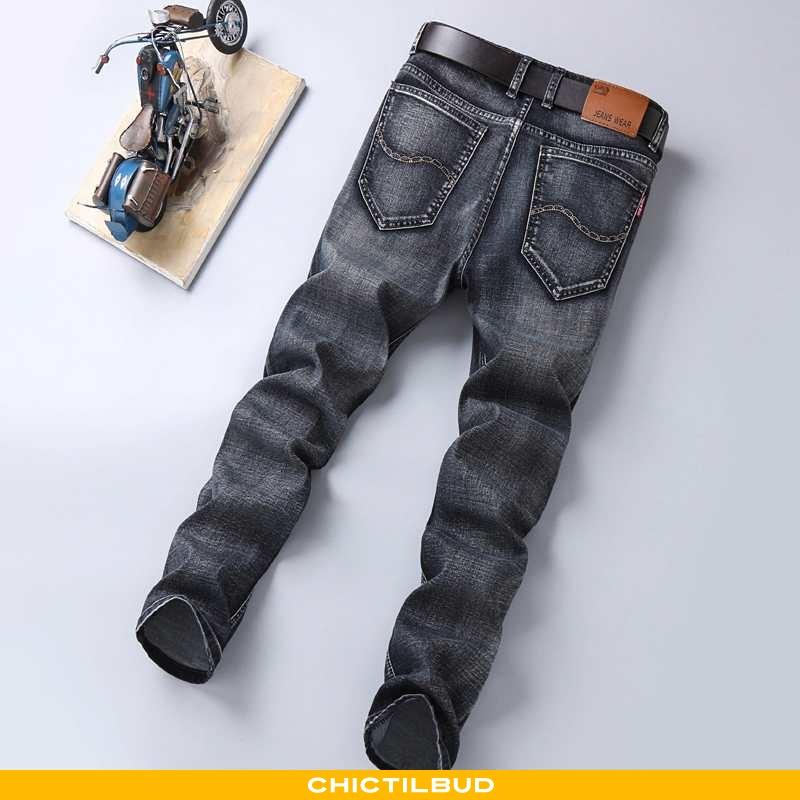 Jeans Herre Cowboybukser Bomuld Trend Sort