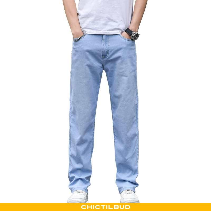 Jeans Herre Cowboybukser Sommer Blå