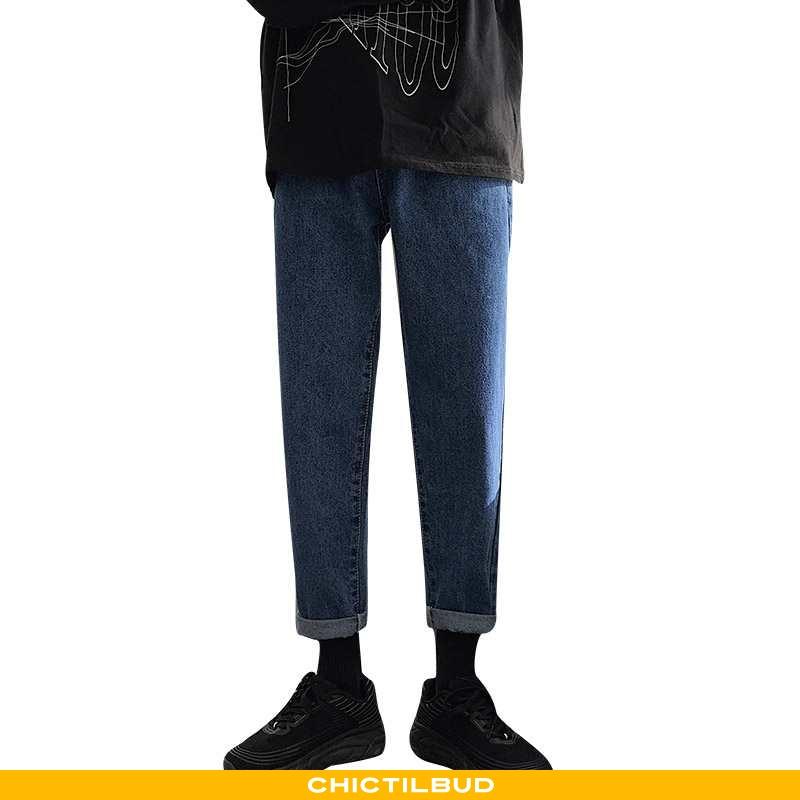 Jeans Herre Cowboybukser Sommer Mænd