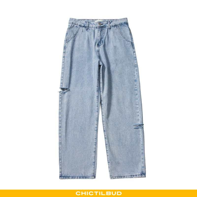 Jeans Herre Cowboybukser Straight Blå
