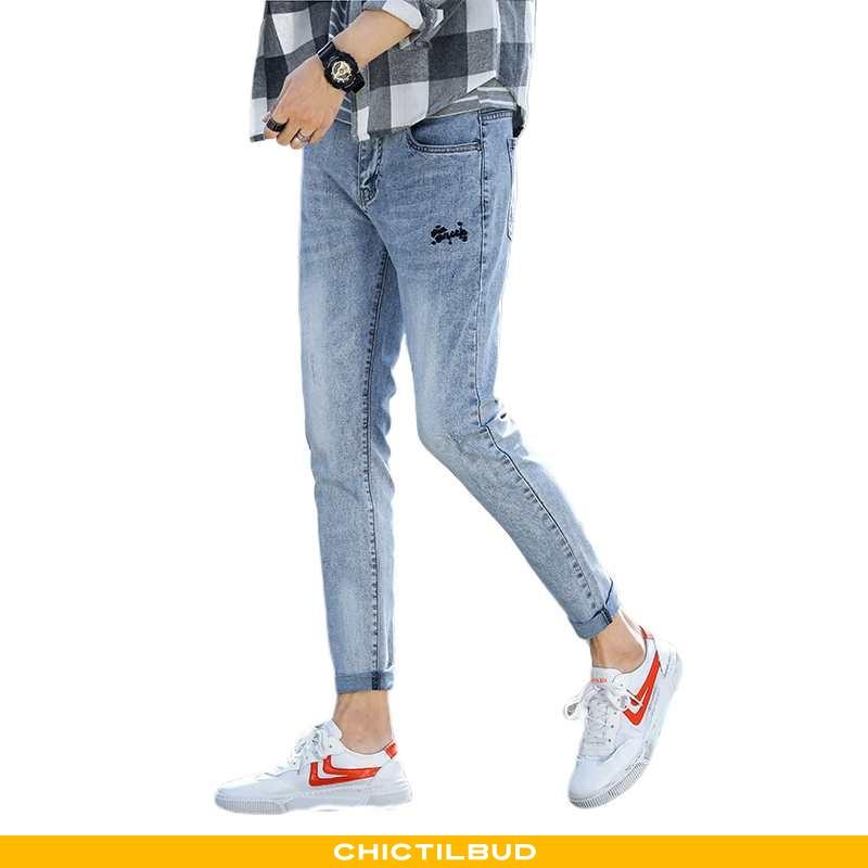 Jeans Herre Cowboybukser Trend Blå