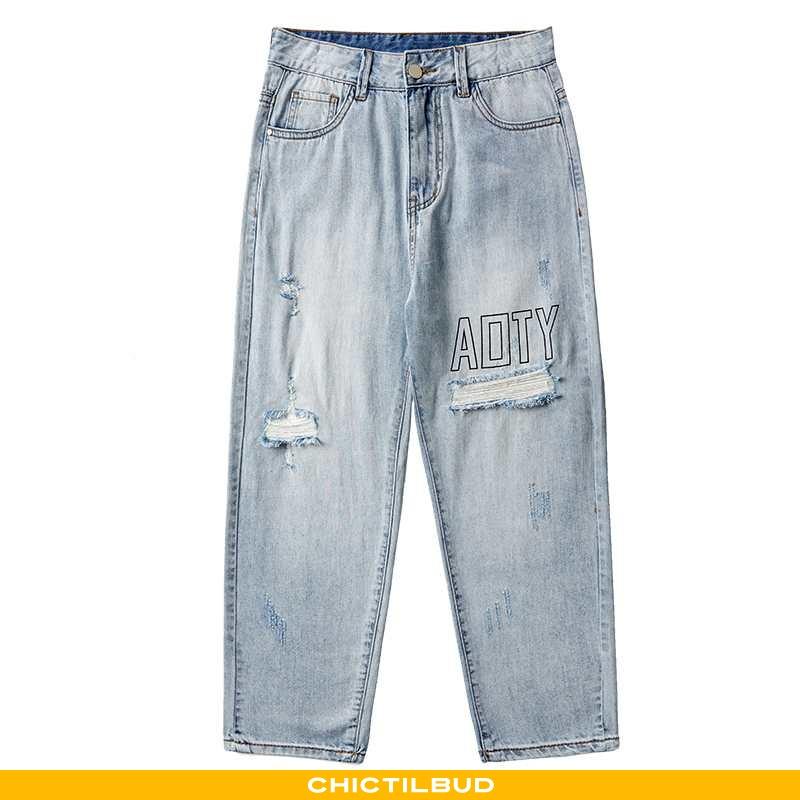 Jeans Herre Denim Sommer Ny