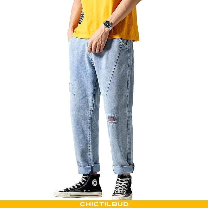 Jeans Herre Lang Ny Blå