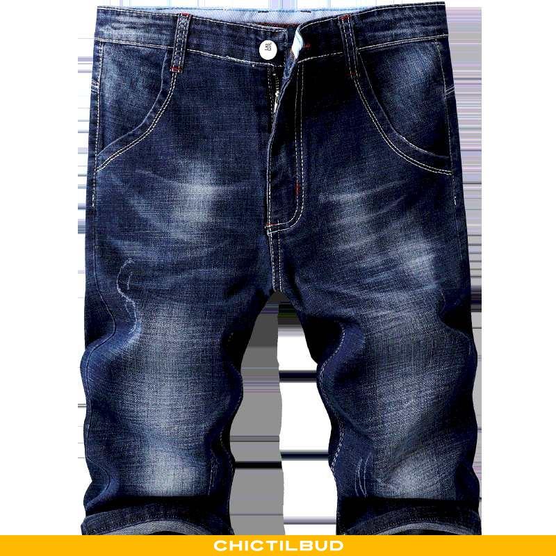 Jeans Herre Shorts Denim Straight Ny