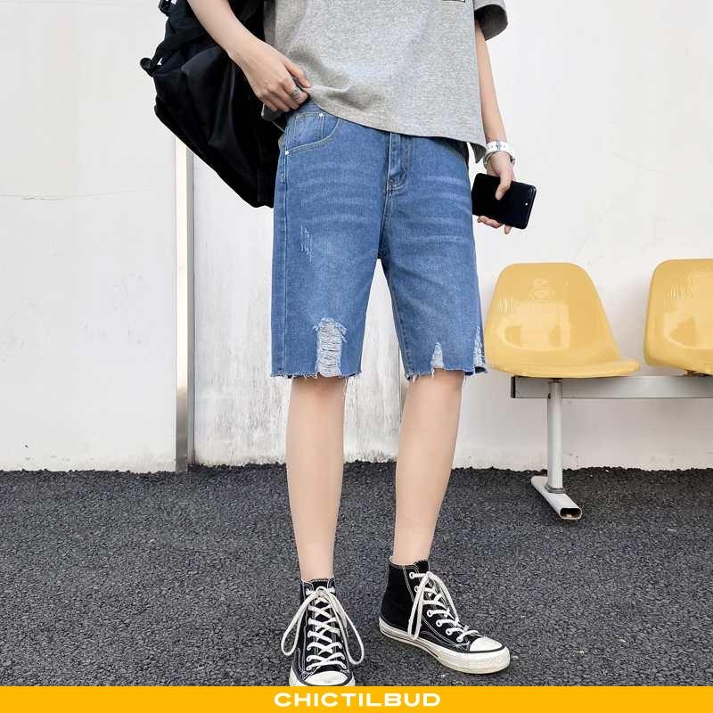 Jeans Herre Shorts Denim Trend Ny