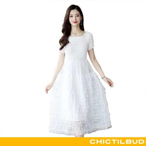 Kjoler Dame Blonder Mode Hvid