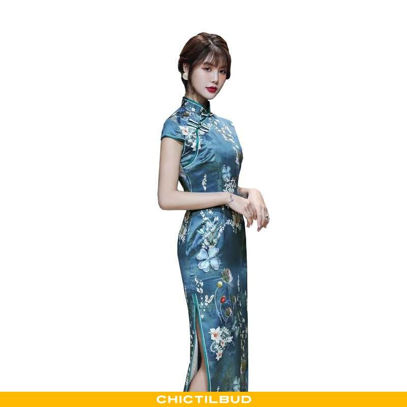 Kjoler Dame Cheongsam Silke Mode Alt Matcher