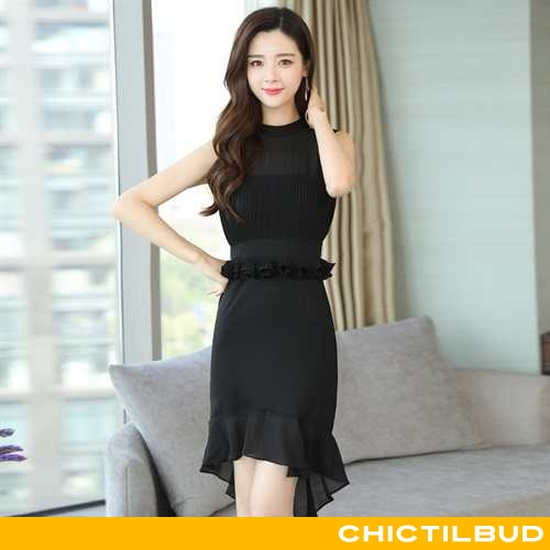 Kjoler Dame Kjole Chiffon Lang Simple
