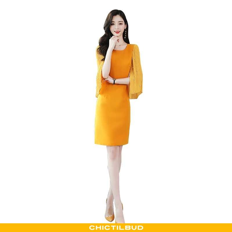 Kjoler Dame Kjole Chiffon Trend Gul