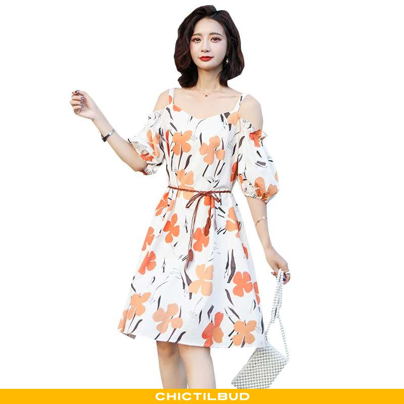 Kjoler Dame Kjole Sommer Orange
