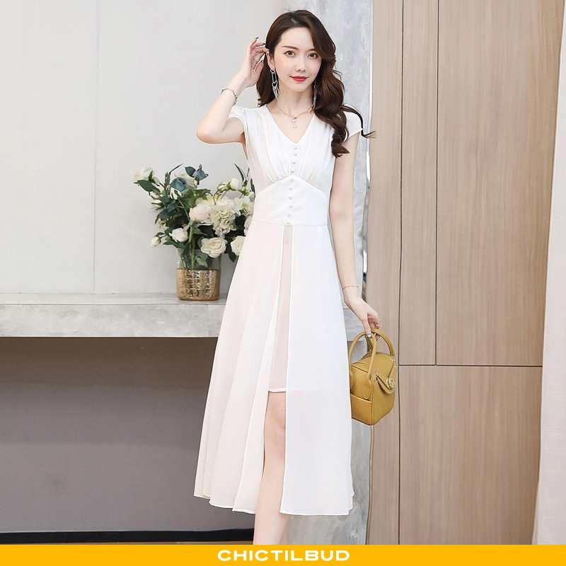 Kjoler Dame Kjole Trend Hvid