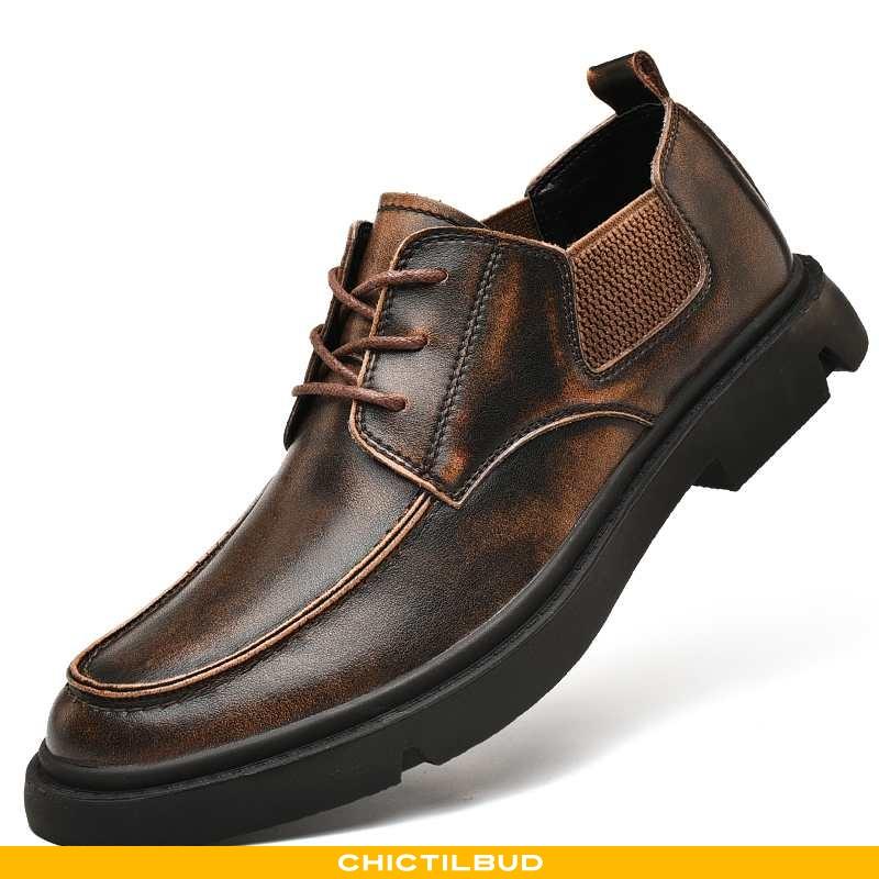 Læder Sko Herre Lædersko Læder Business Mænd