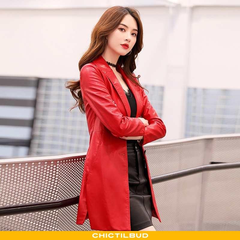 Læderjakke Dame Mode 2021 Bordeaux