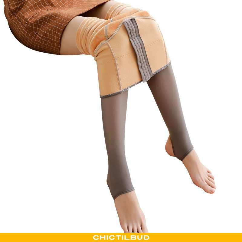 Leggings Dame Blonder Vinter Hofte
