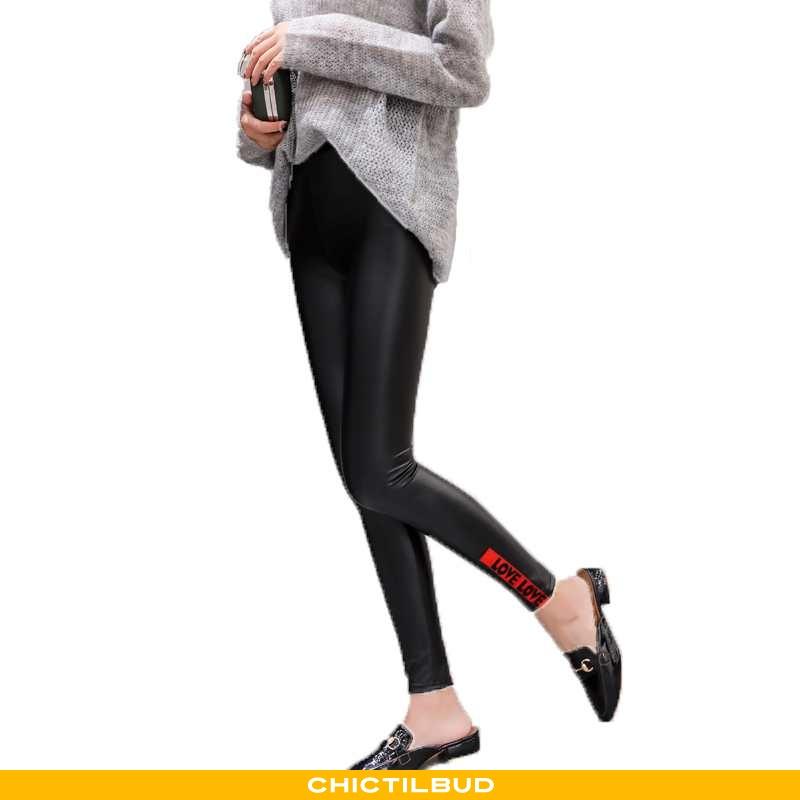Leggings Dame Bukser Slim Fit Ren