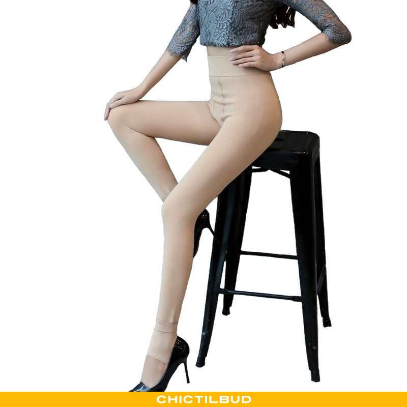 Leggings Dame Varm 2021 Gul