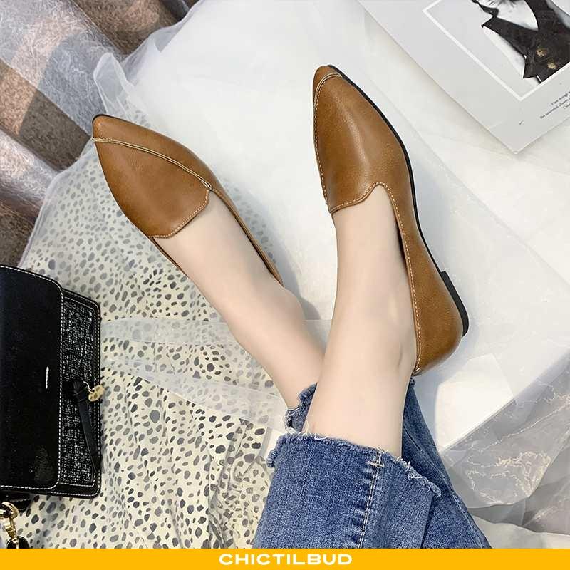 Loafers Dame Enkelt Sko Forårs Doven