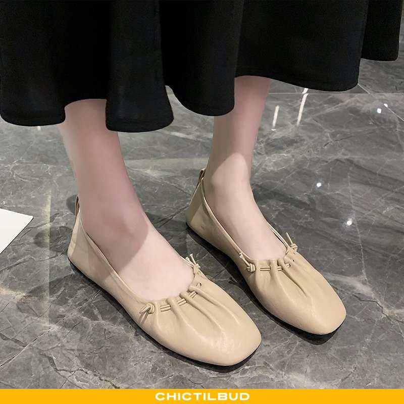 Loafers Dame Enkelt Sko Læder Flade Kvinder