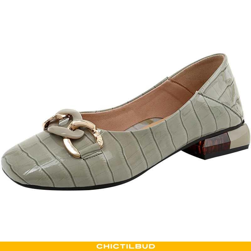 Loafers Dame Enkelt Sko Læder Sommer Kvinde