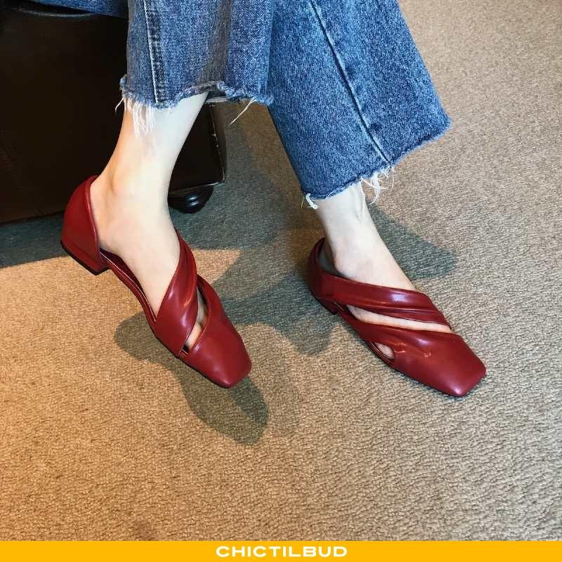 Loafers Dame Enkelt Sko Sommer Rød