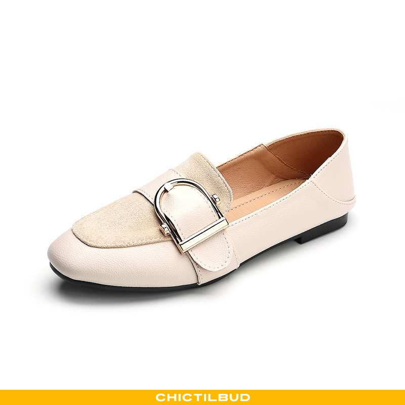 Loafers Dame Lædersko Flade Doven