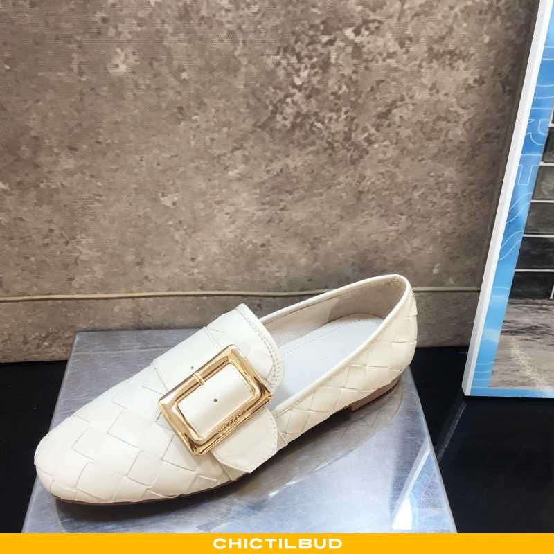 Loafers Dame Lædersko Mode Firkantet Hoved