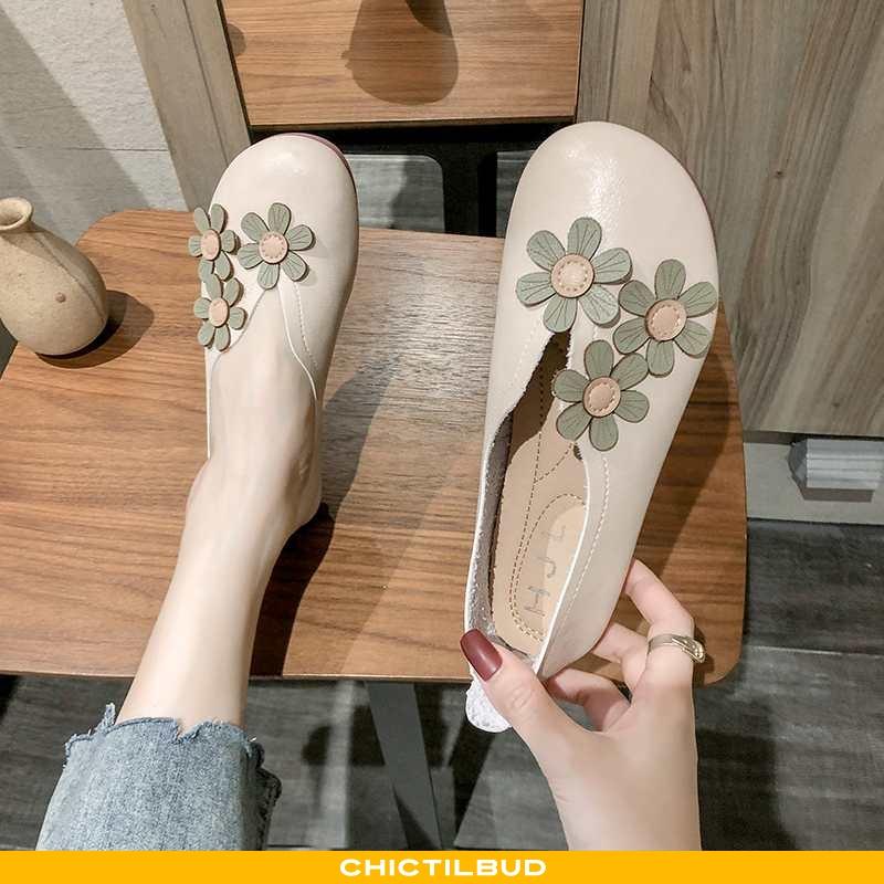 Loafers Dame Mokkasin Flade Korte Mund Sokker