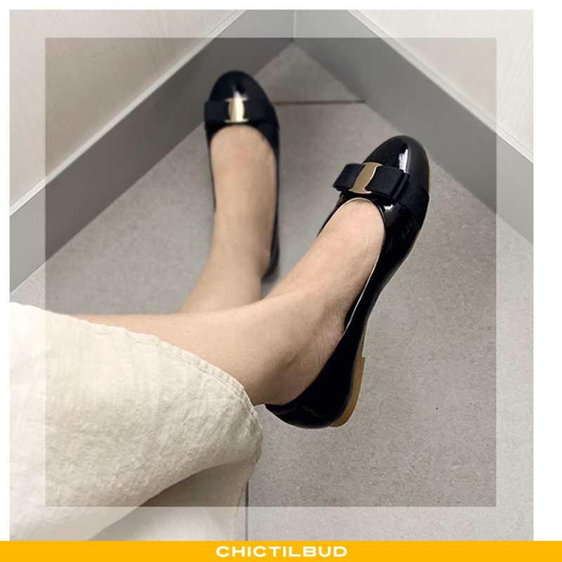 Loafers Dame Mokkasin Læder Flade Kvinder