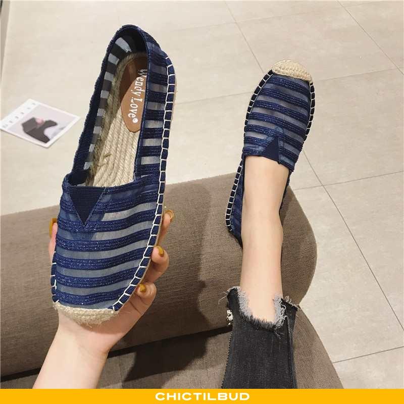 Loafers Dame Mokkasin Tyl Flade Slip On