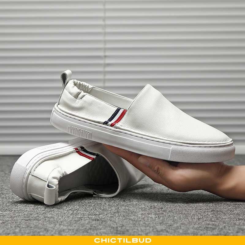 Loafers Herre Læder Sommer Slip On