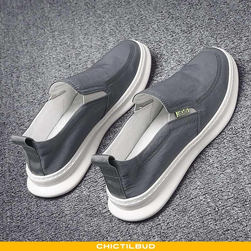Loafers Herre Mokkasin Canvas Trend Slip On