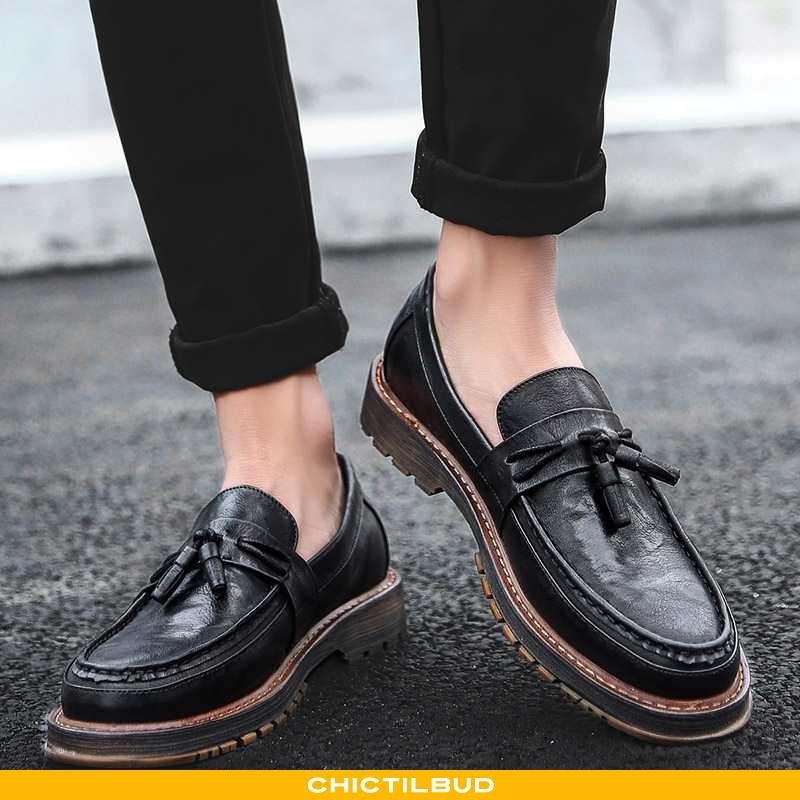 Loafers Herre Mokkasin Casual Slip On