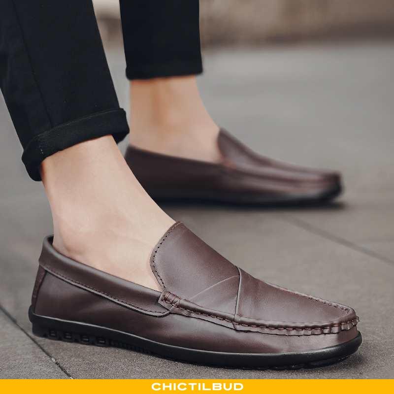 Loafers Herre Mokkasin Læder Business Britisk