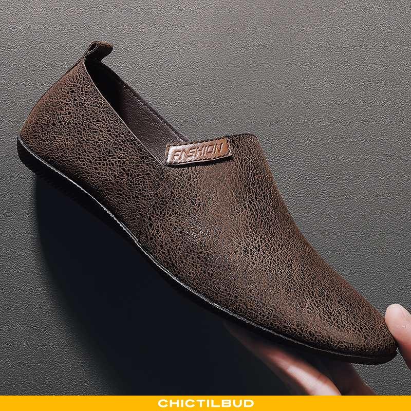 Loafers Herre Mokkasin Læder Casual 2020