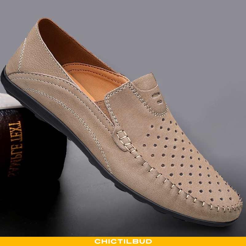 Loafers Herre Mokkasin Læder Sommer Bløde Såler