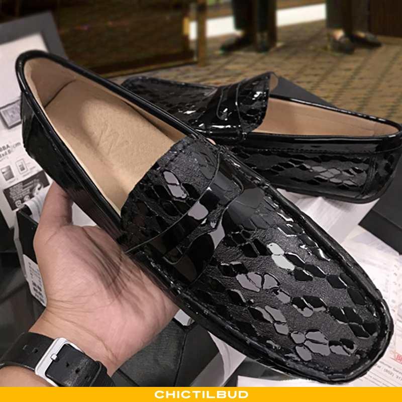 Loafers Herre Mokkasin Læder Trend Britisk