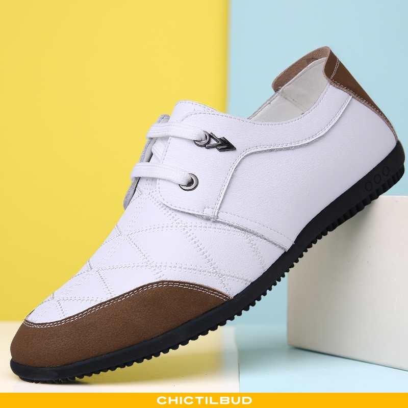Loafers Herre Sandaler Læder Bindebånd Mænd