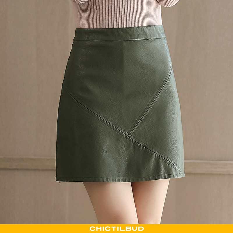 Nederdel Dame Skørt Elegante Grøn