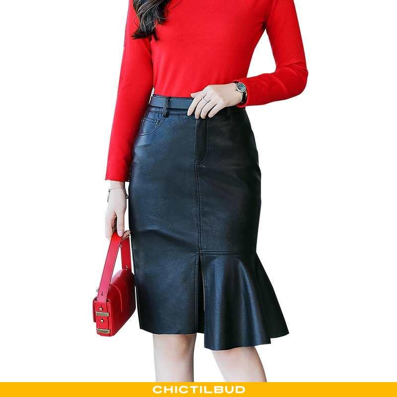 Nederdel Dame Skørt Trend Simple